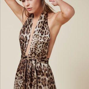 Reformation mezzanine dress in meow xs NWT